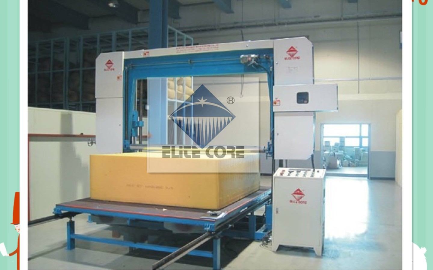 automatic horizontal sponge foam machine