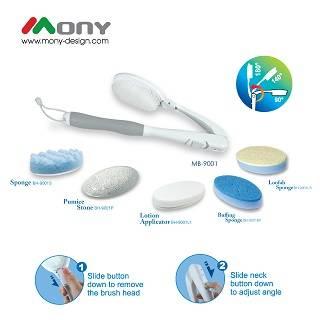 Adjustable and Interchangeable Bath Brush (Gift Set)
