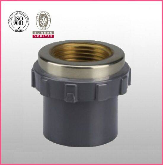 HJ brand UPVC ASTM D2467 SCH80 pipe fitting copper female thread adapter