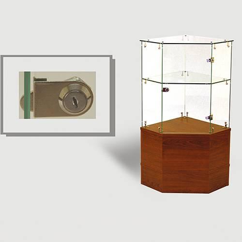 Half Vision Frameless Corner Showcase
