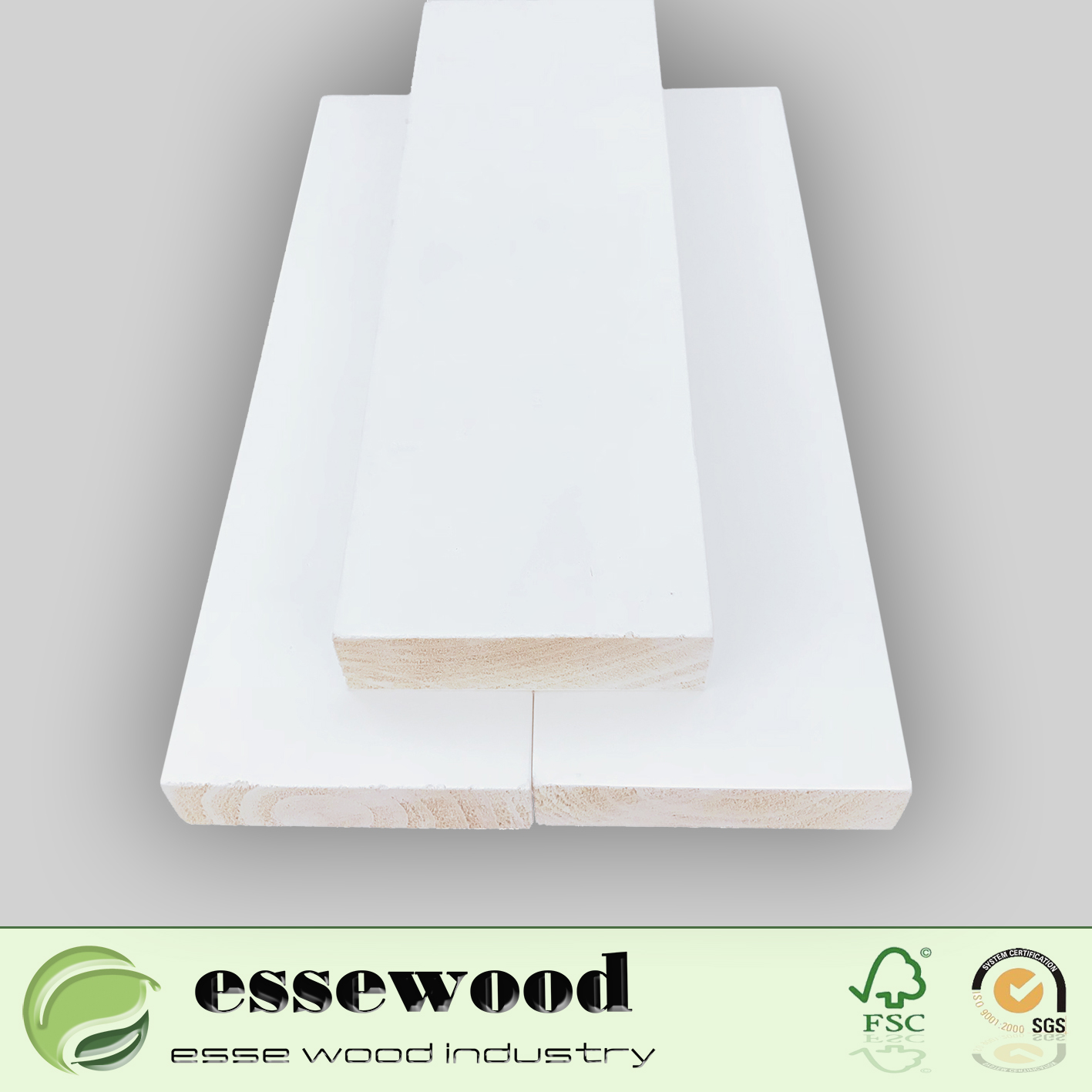 Gesso Wood Moulding Primed Timber S4S Moulding