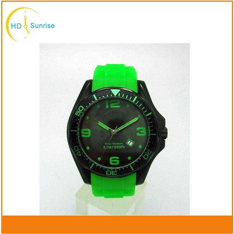 2016 new products top brand men's sport watch with silicone band and large face Hot in US and Russia