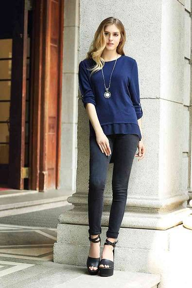 Top selling Ladies jeysey knitted pullover