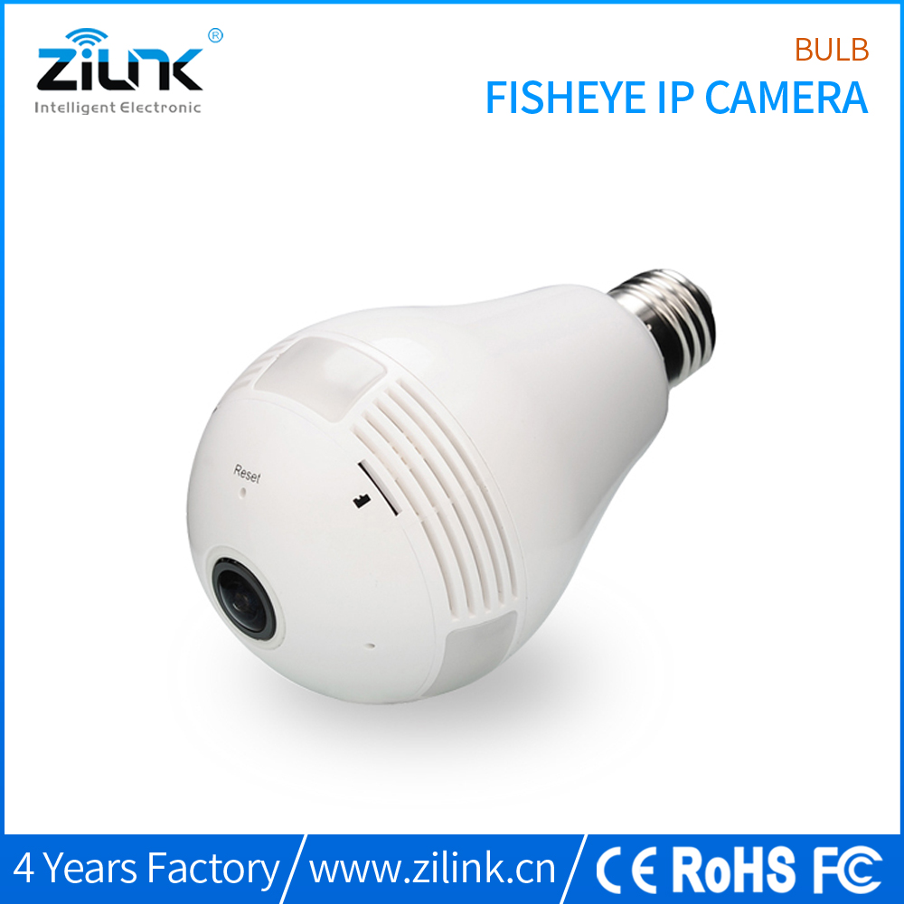 ZILINK Wifi Wireless 960P (1.3 Megapixel) Fisheye Panoramic IP Network Camera, Night Vision