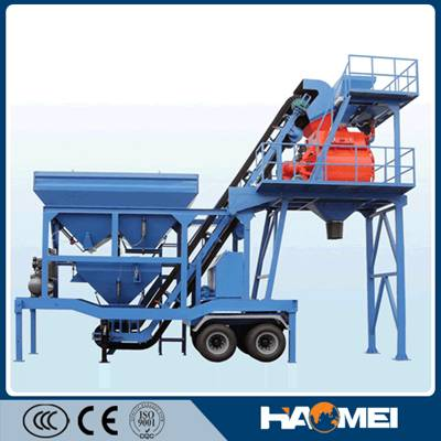 small mobile concrete batching plant equipment export for foreign countyr