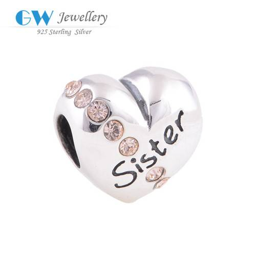 2016 New Arrival Hot Sale Graduation Letter Sister Custom Made Metal Logo Charms For Bracelet Making