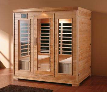 far infrared tourmaline solid wood sauna room