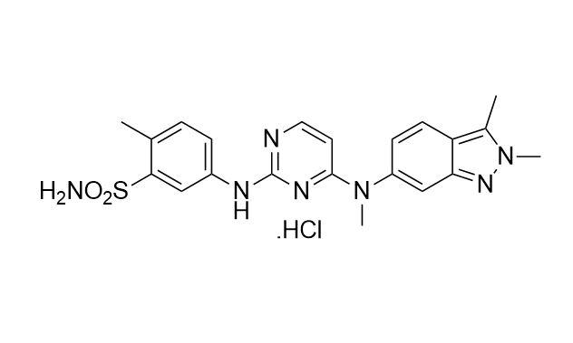 Pazopanib hydrochloride (CAS NO.:635702-64-6)