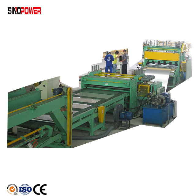 4m 6m length sheet cutting and leveling machine line