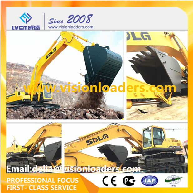 SDLG LG6300E, 200HP Crawler Excavator Prices LG6300E with Volvo Technology