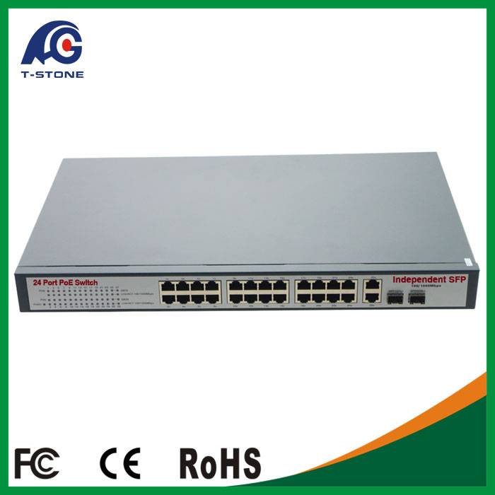 24 *10/100/1000Mbps full Gigabit poe switch/CCTV Network switche/ 15.4w IEEE802.3af
