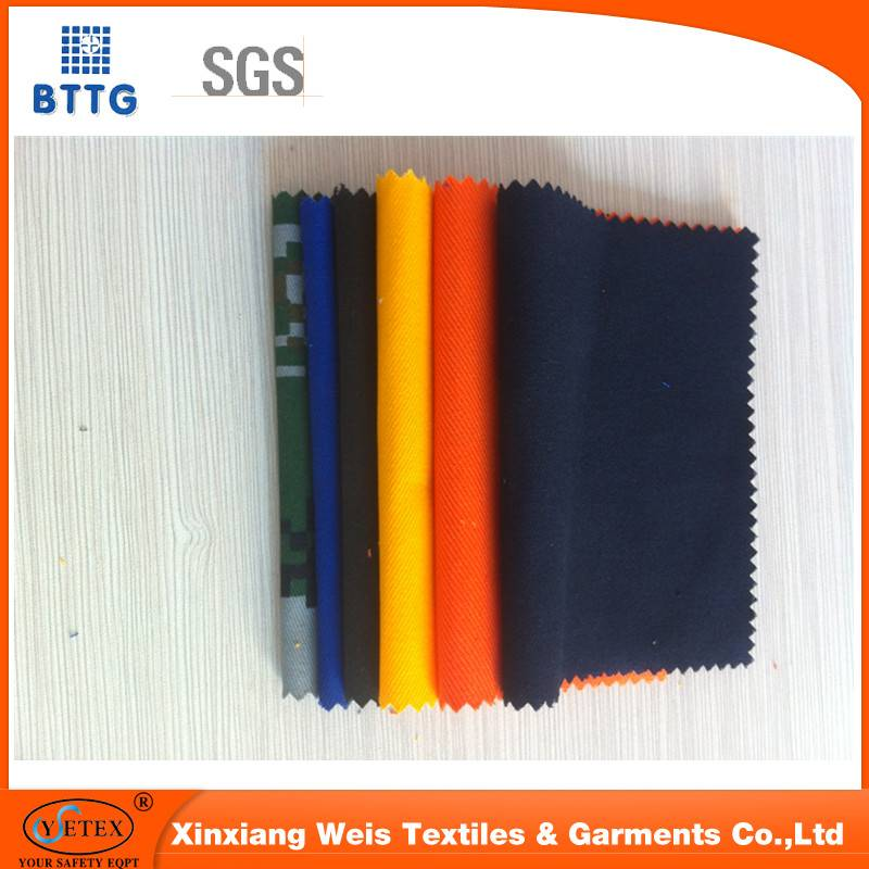 100 cotton camouflage  flame retardant fabric for safety clothing