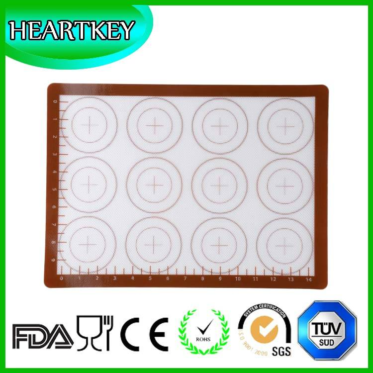 Heat Resistant Silicone Baking Mat Macaron Mat with Check Measurements