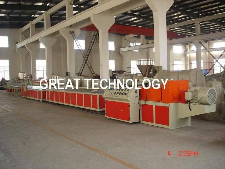 Wood PVC PE Plastic deck floor WPC Profiles production line
