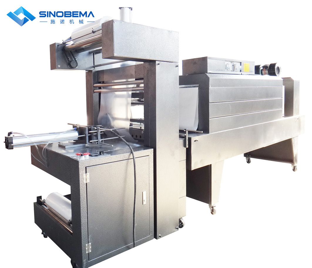 Semi-automatic shrink wrapping packing machine