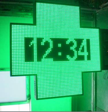 LED Pharmacy Cross Display With CE