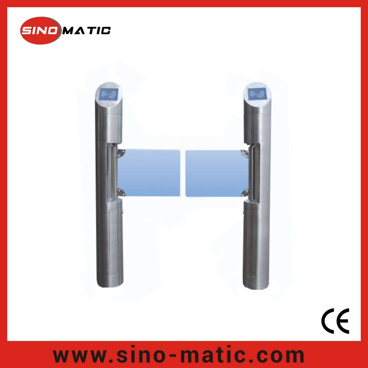 316 Stainless Steel China Factory Security Access Control Swing Barrier