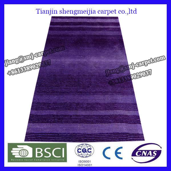 Modern Design low Pile Shaggy Polyester Silk rugs
