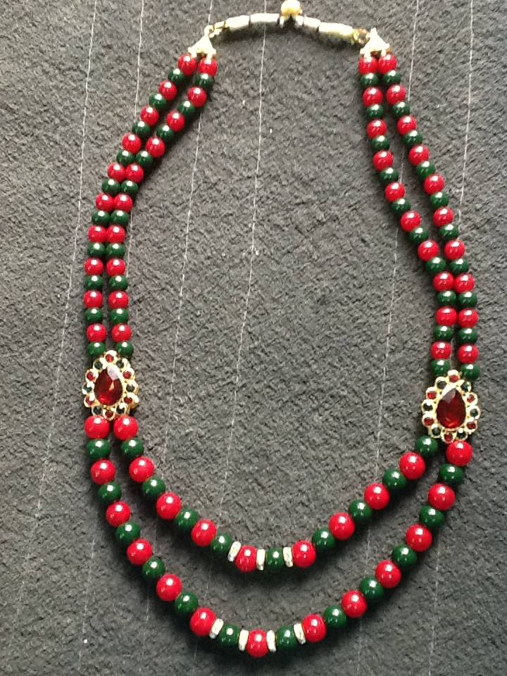 sari beads necklace
