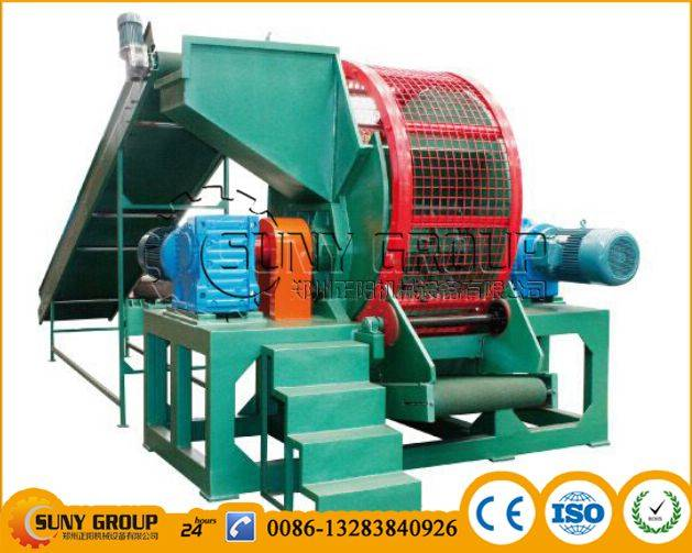 whole tyre shredder for tyre recycling machine