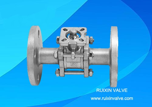 3 PC Flanged Ends Floating Stainless Steel Ball Valve