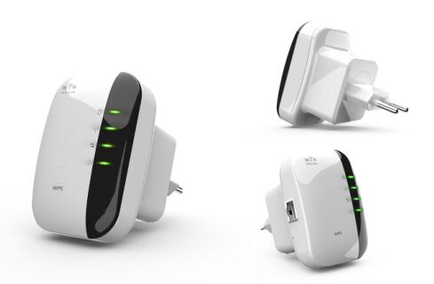 300Mbps Wireless Repeater, WiFi Extender with Integrated Antennas
