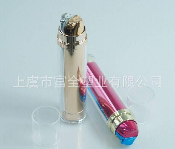 Hot selling round acrylic double tube BB cream bottle