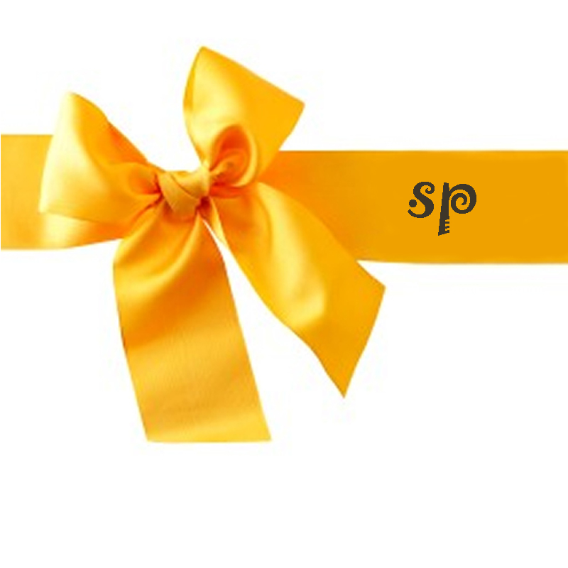 Boutique Yellow Print Ribbon Bow for Kids Hair Decoration