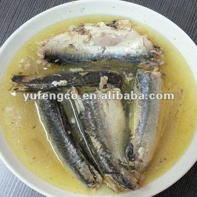 Canned sardine fish in oil 125g