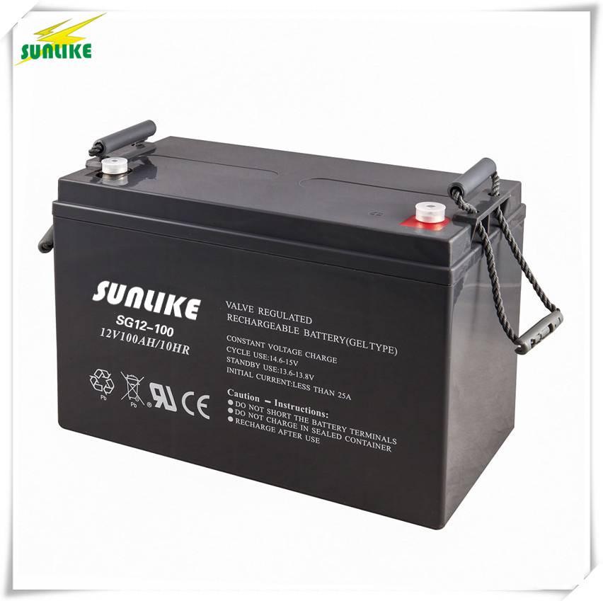 12V 100ah Rechargeable Solar Power Gel Battery for Solar/UPS System