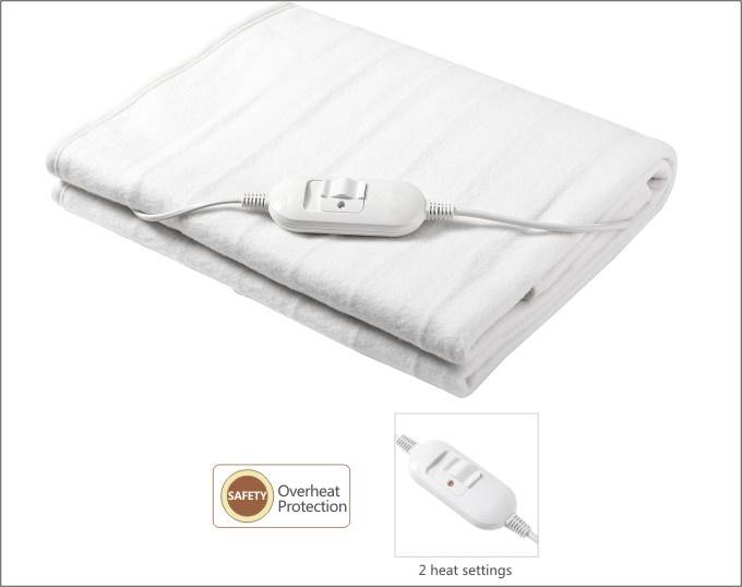 100% polyester White Electric Blankets