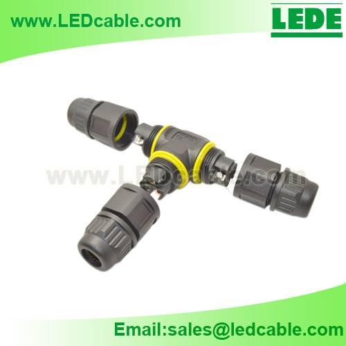 Waterproof T Type Connector, Screw Type, No Soldering