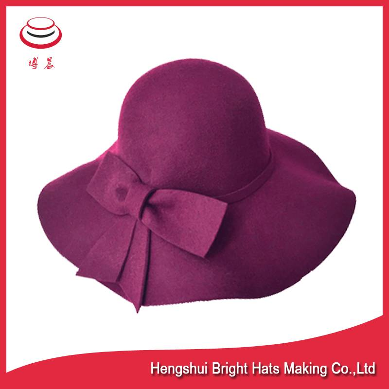 Wool felt floppy hats for women