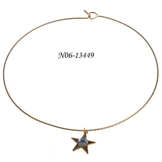 Fashion necklace with star shape pendant decoration