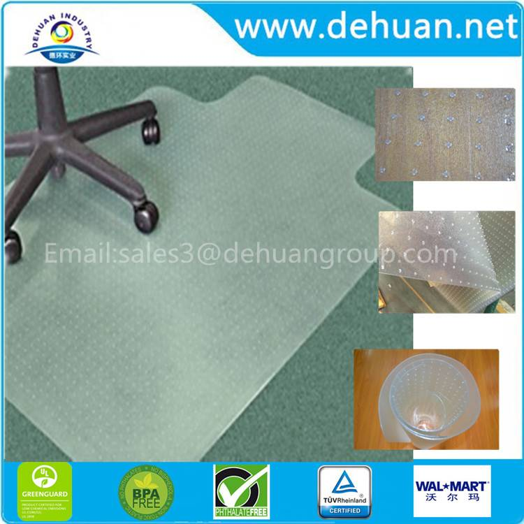 Advantage Chair Mat, Standard Lip, For Thin Commercial-Grade Carpets