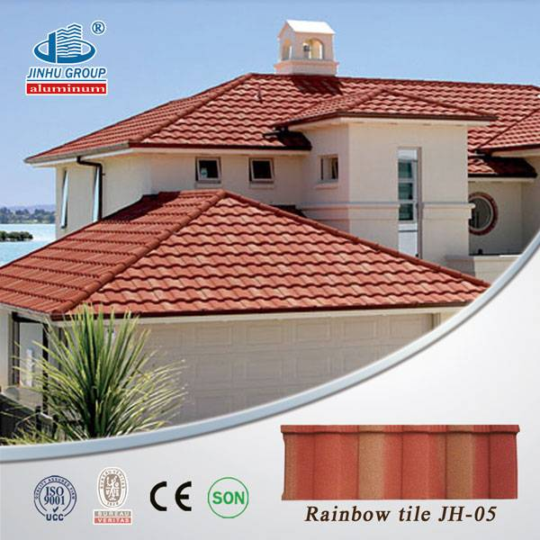 colorful stone coated metal roofing sheet