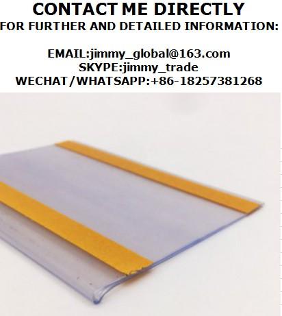 Pvc shelf talker/Strips/self adhesive label holder/Sign holders/Data strip