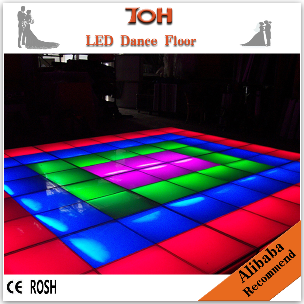 Illuminated colorful led dance floor