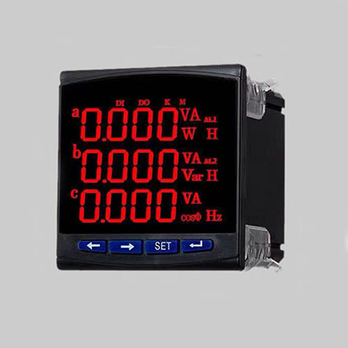 High accuracy 3P3W LED multi-function measuring analyzer RS485 MODBUS-RTU DI DO AO with CE