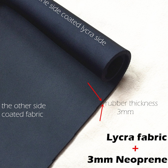 Lycra neoprene fabric 3mm sbr cr sheet coated lycra spandex 4-way-stretch diving suit slimming short
