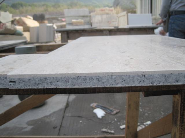 Natural Stone Laminated with Granite and Fiberglass