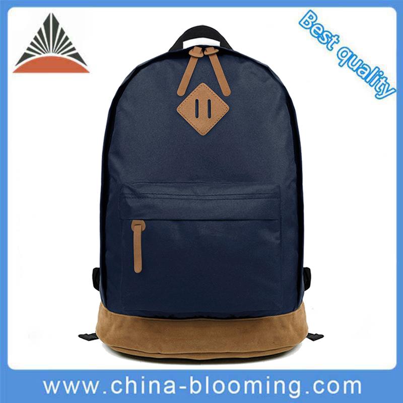 Hot Selling Unisex Dark Blue Travel Polyester Laptop Backpack School Bags