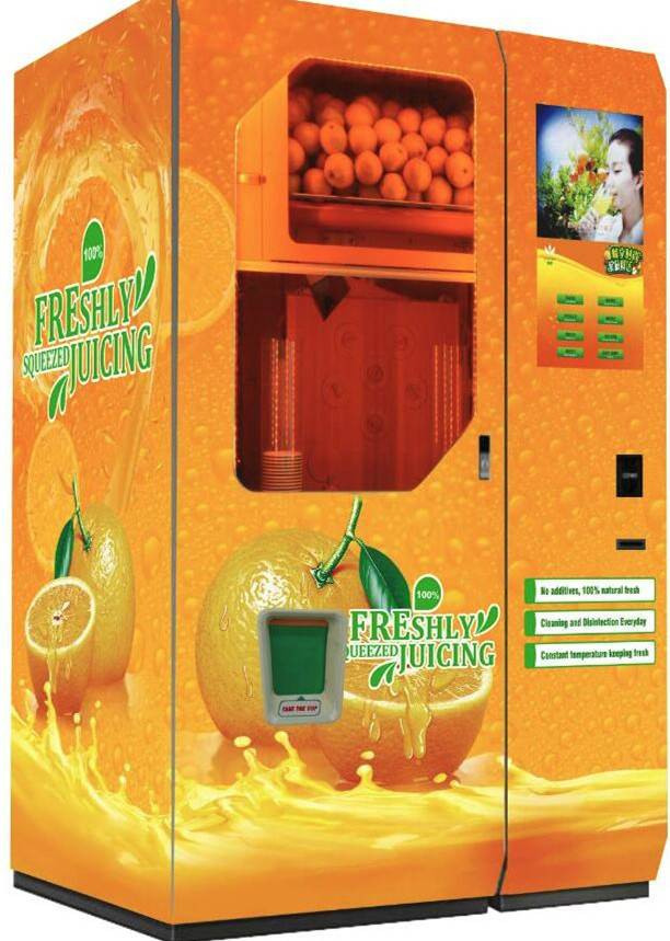 Customized Fresh Squeezed Orange Juice Vending Machine
