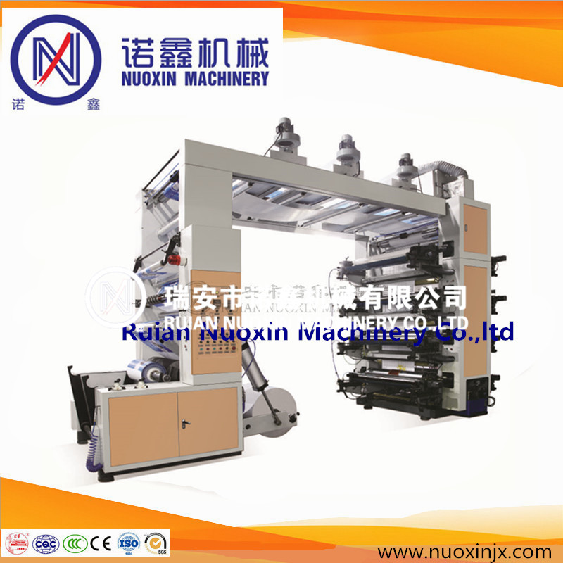 High speed 8 color plastic film flexographic printing machine