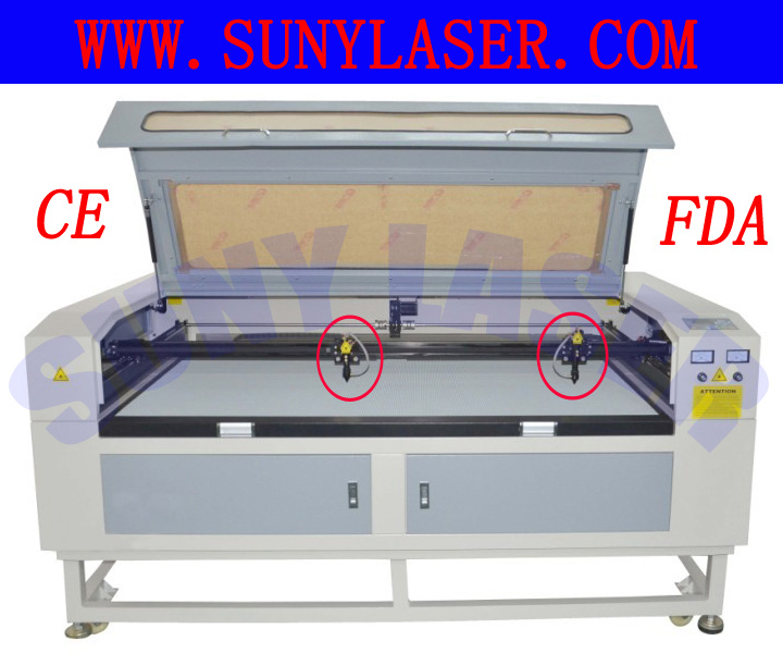 Multi Heads Texitle Laser Cutting Machine 16001000mm