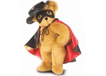 Cool Plush Teddy Bear Zorro Shape
