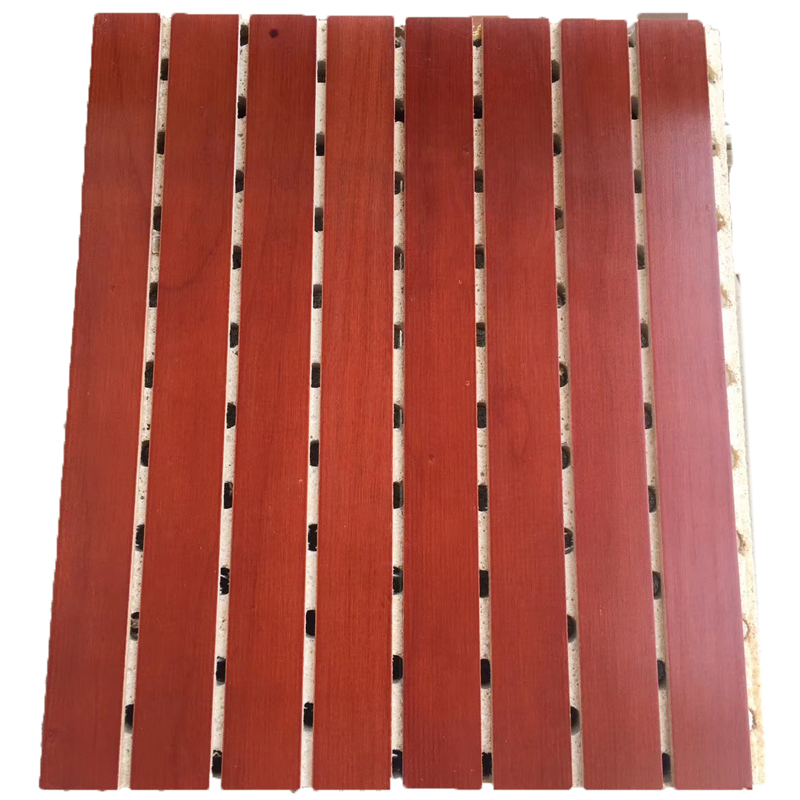 MDF Board Soundproof Polyester Fiber Material Home Decoration Grooved Acoustic Panel