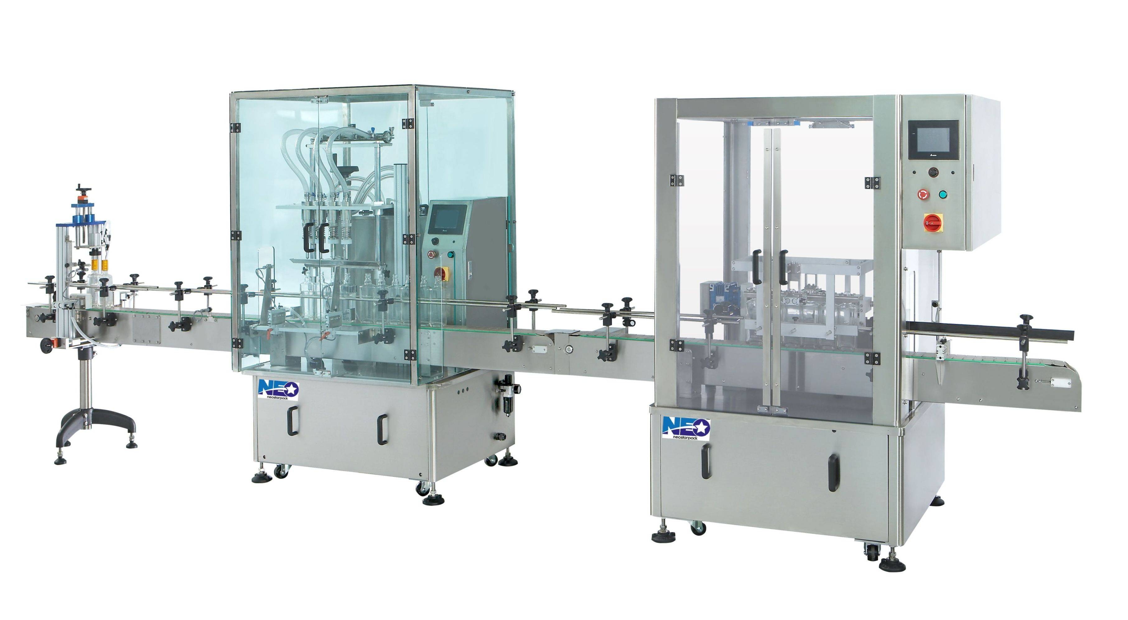 Automatic Bottle Rinsing and Filling Capping Line