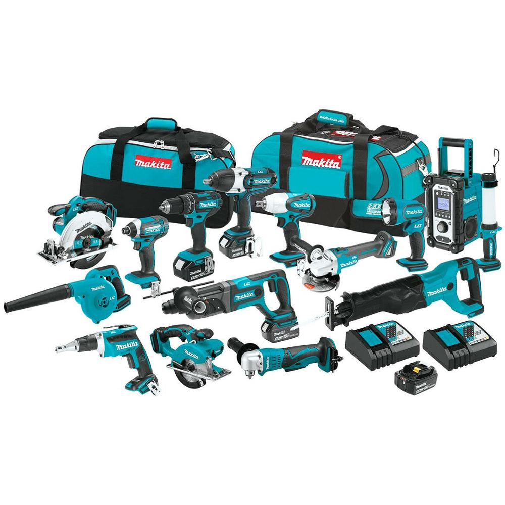 Makitas LXT1500 18-Volt LXT Lithium-Ion Combo Kit / Power Tool / Cordless Drill