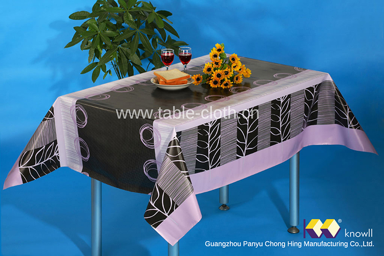 Guangzhou Panyu Tablecloths with Nonwoven Backed